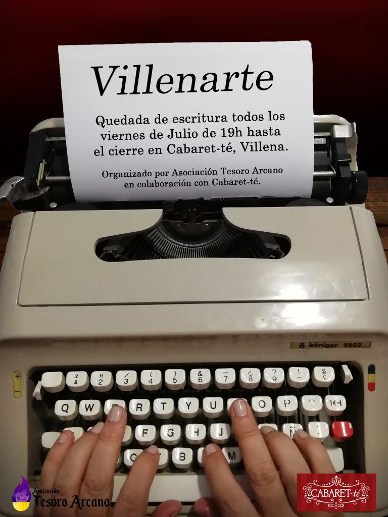 Cartel Escritura Villenarte