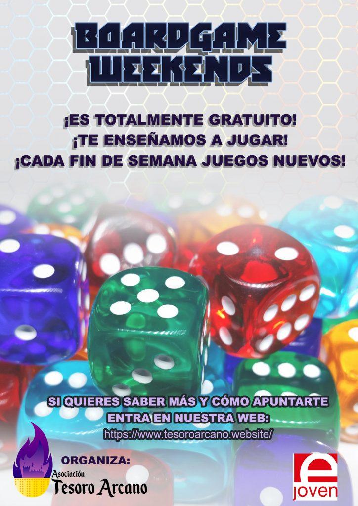 Cartel Boardgame Weekends Asociacion Tesoro Arcano
